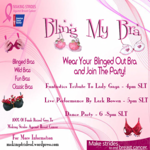 Bling My Bra Party - Oct 24    4 - 8pm slt  _